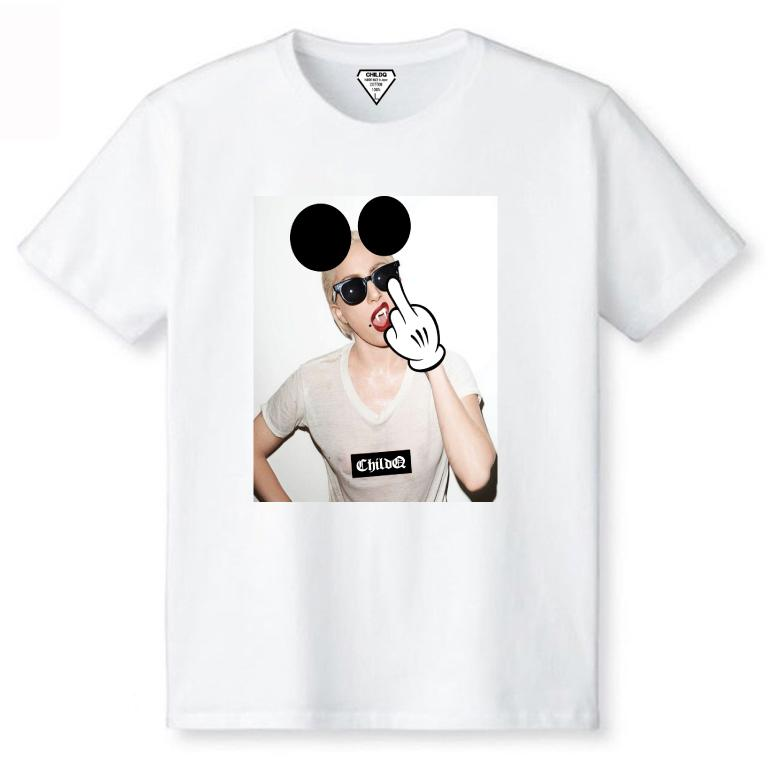 Lady Mouse Art T-shirt White