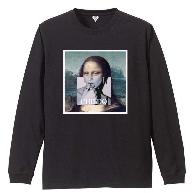 Mona Lisa Lips Black T-shirt