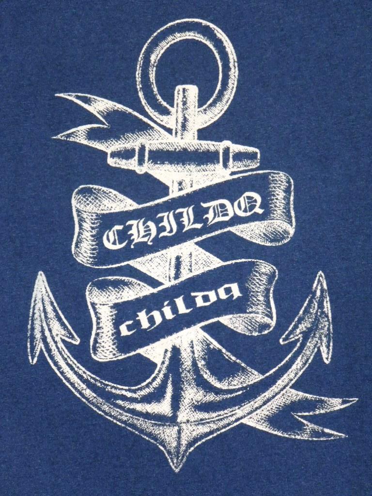 Indigo Anchor T-shirt Summer Blue