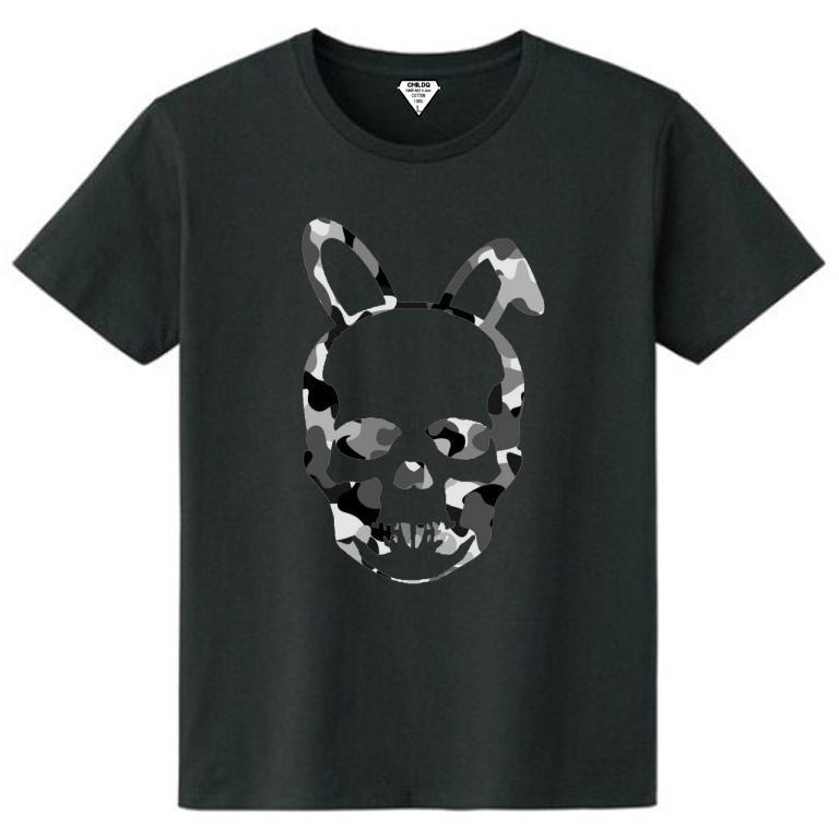 Skull Bunny Camouflage T-shirt Black