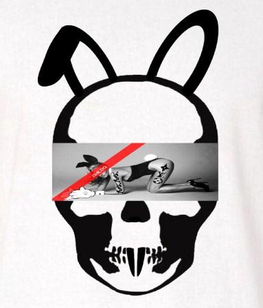 Skull Bunny Tattoo Girl NO.32 Long T-shirt White