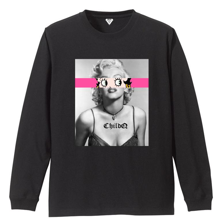Marilyn Betty Eyes Black T-shirt