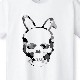 Skull Bunny Camouflage T-shirt White