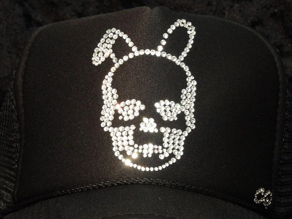 Skull Bunny Swarovski cap Black