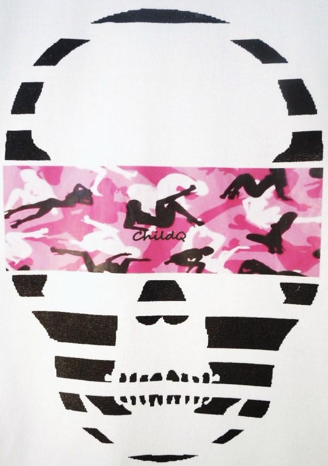 Skull camouflage White×Pink
