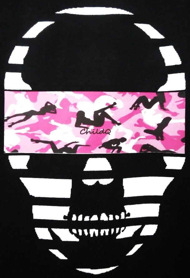 Skull camouflage Black×Pink
