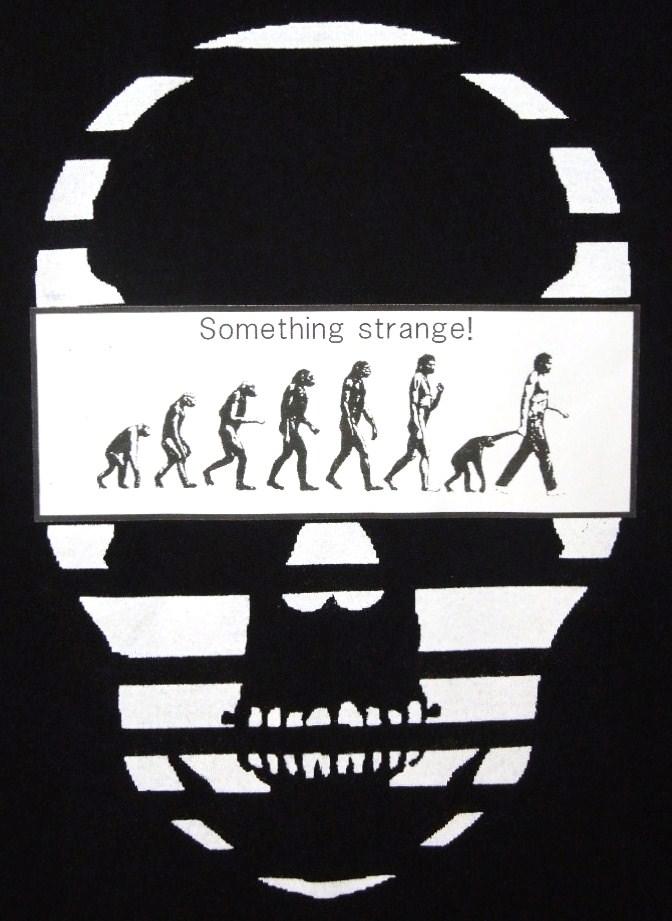 Skull biology Tシャツ 黒