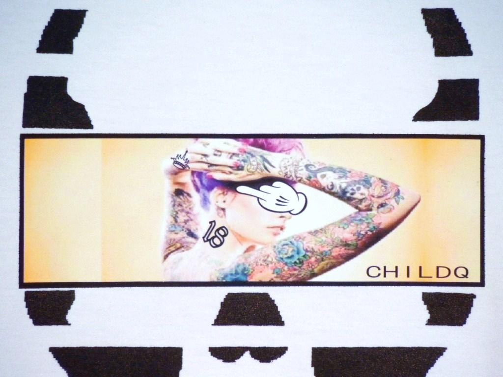 Skull Tattoo Girl NO.18 T-shirt White