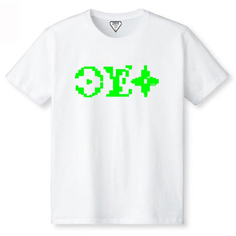 Mosaic parody White×Lime green
