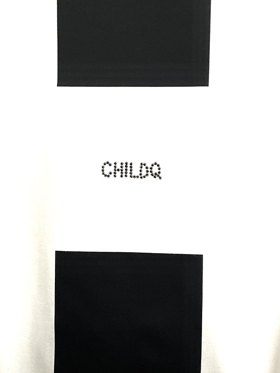Black Line Swarovski Long T-shirt  White