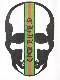 Skull Green Line T-shirt White