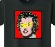 Marilyn Art T-shirt Black x Red