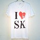 I Love SK Swarovski T-shirt White
