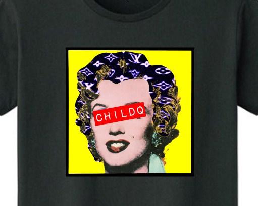 Marilyn Art T-shirt Black x Yellow