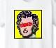 Marilyn Art T-shirt White x Yellow