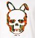 Skull Bunny Camouflage T-shirt White x Orange