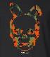Skull Bunny Camouflage T-shirt Black x Orange