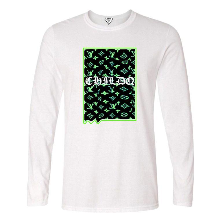 Lime Green Monogram Long T-shirt White