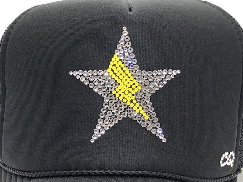Stsr Thunder swarovski cap Black