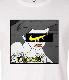 Pop Art Parody Long T-shirt White
