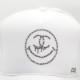 One Eye Smiley Swarovski CAP White