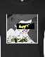 Pop Art Parody Long T-shirt Black