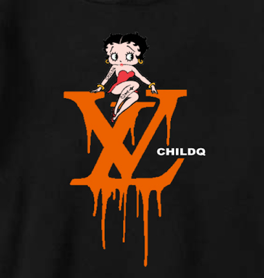 CHILDQ & Betty Black×Orange Parker