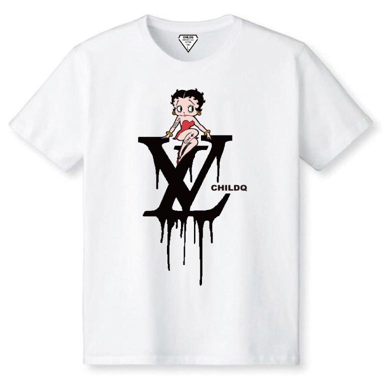 CHILDQ & Betty Black×White T-shirt