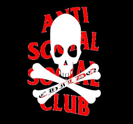 Anti Skull Club Long T-Shirt Black