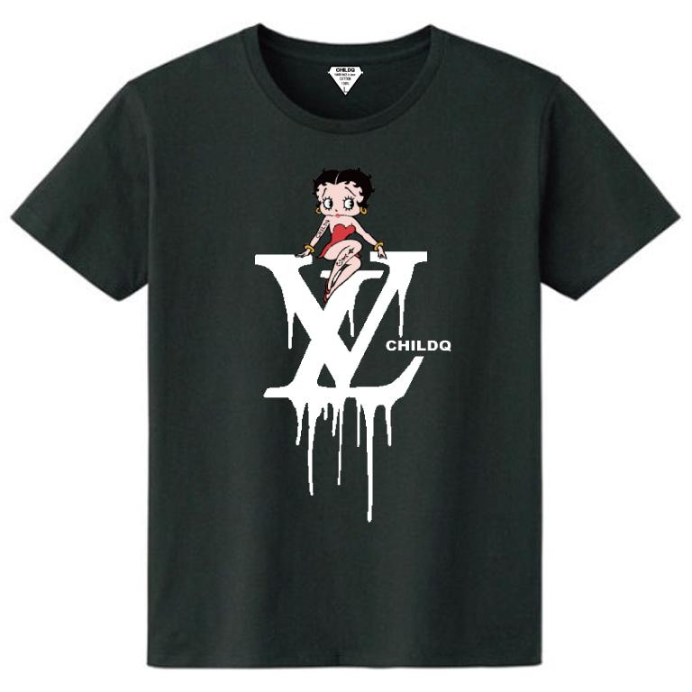 CHILDQ & Betty Black×Black T-shirt