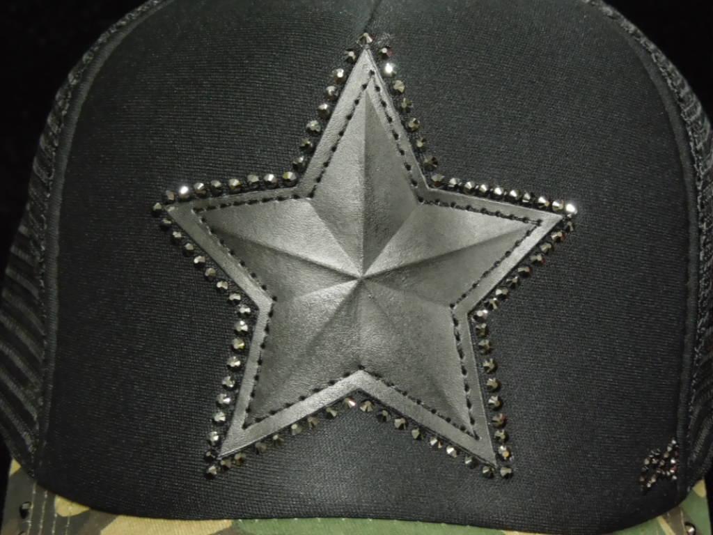 Star Swarovski Cap Camouflage ×Black