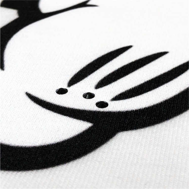 New Parody Hand Swarovski T-shirt White