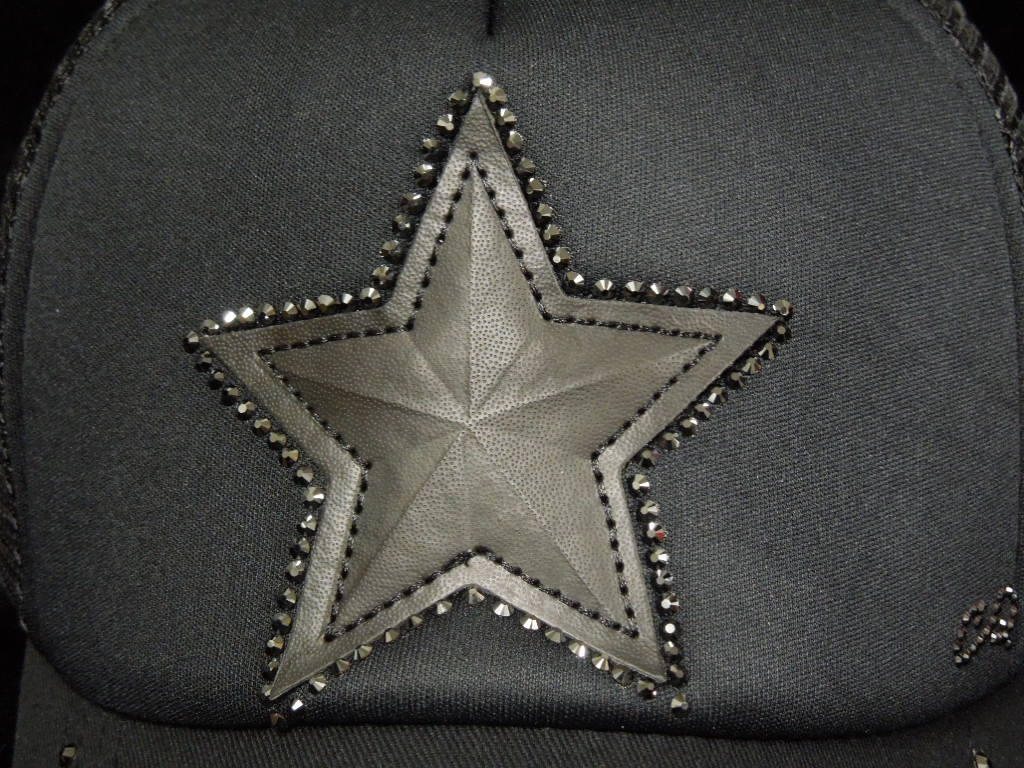 Star Swarovski Cap Black×Black