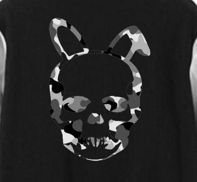 【数量限定品】Skull Bunny Camouflage Stadium Jacket Black