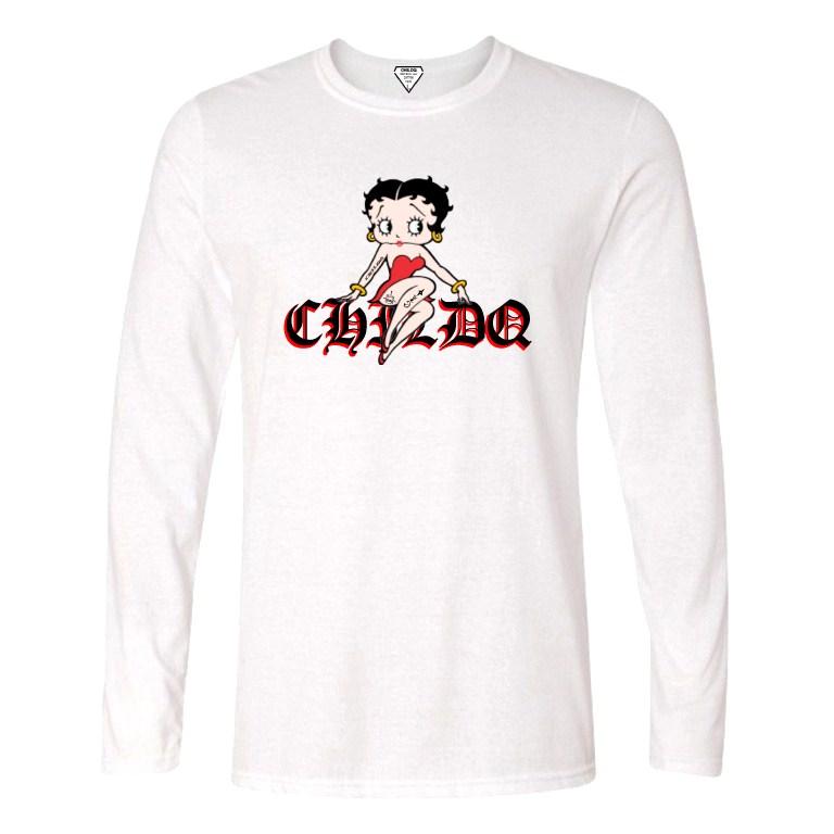 CHILDQ & Betty Long T-shirt White