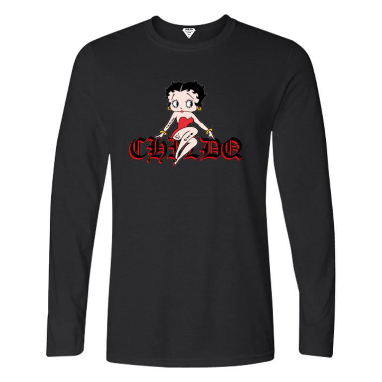 CHILDQ & Betty Long T-shirt Black