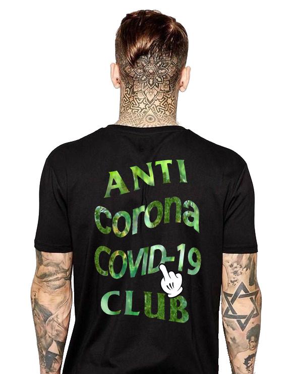ANTI COVID-19 T-shirt Black