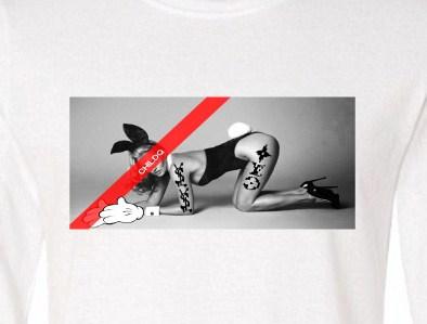 Art Hot N.O5 Long T Shirt White