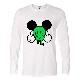Pop Art Swarovski Long T-shirt White × Green
