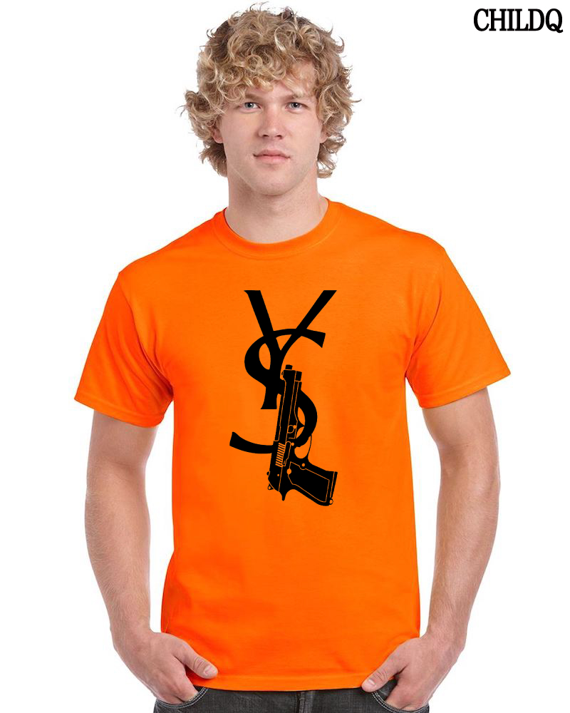 Vivid Orange POP Art T-shirt