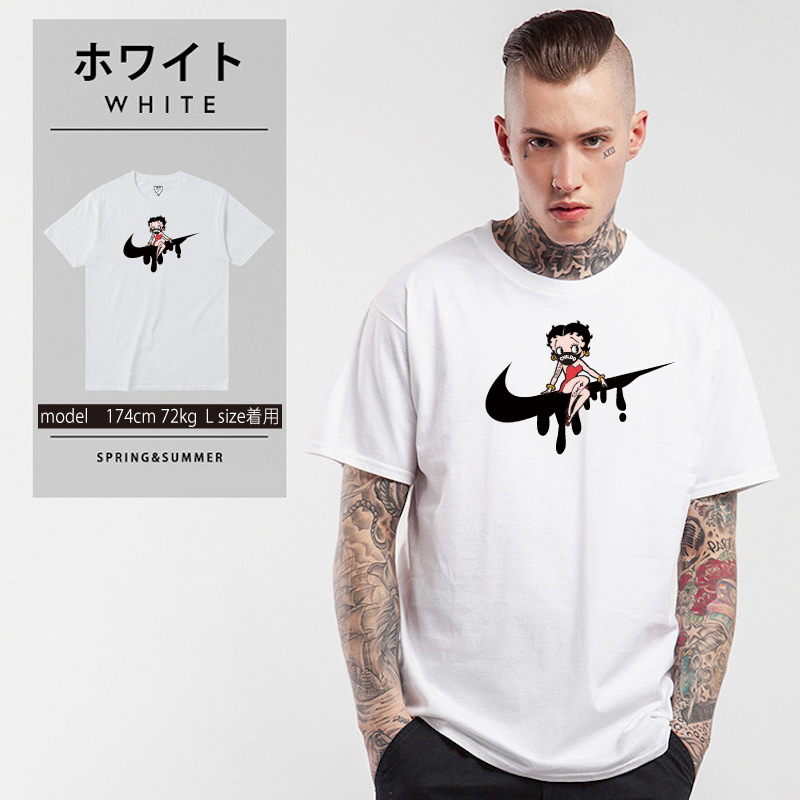 CHILDQ & Betty N.o2 Black×White T-shirt