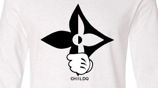 Half  Pop Art Swallow Long T-shirt White