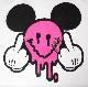 Pop Art Swarovski T-shirt White × Pink