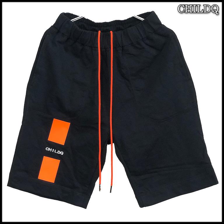 Vivid orange Line Half pants
