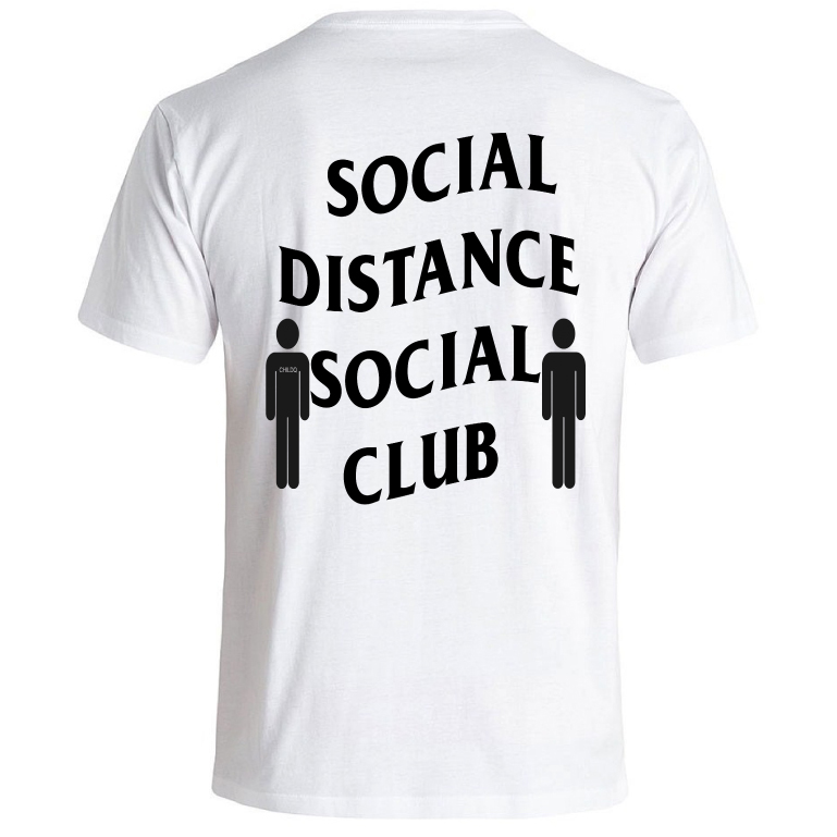 Social Distance Club  T-shirt White