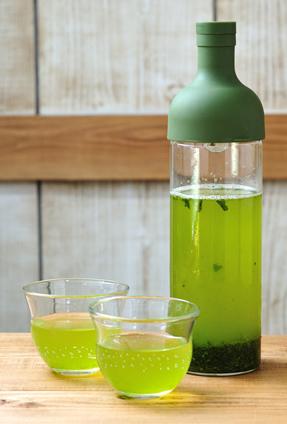 「水出し緑茶セット」750ml・茶缶付き