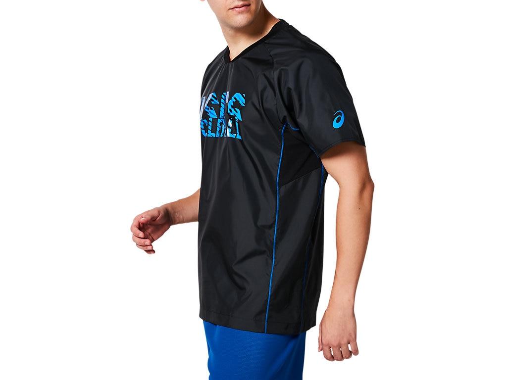 アシックス ハンソデウォームアップシャツ 2053A045 メンズ 2019SS バレーボール ゆうパケット(メール便)対応 2019春夏 アウトレット