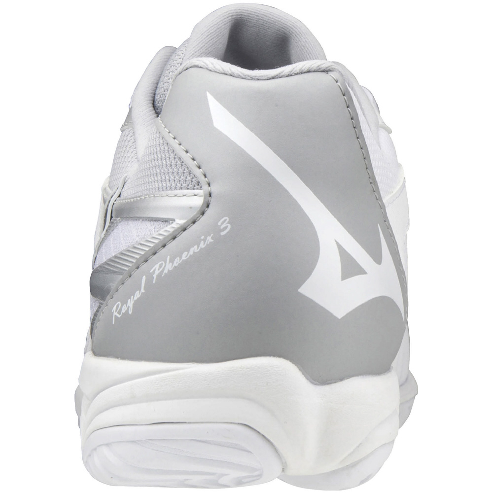 ミズノ バレーボールシューズ ロイヤルフェニックス 3 ホワイト×シルバー×グレー V1GA203003 ユニセックス 2020AW 同梱不可 RFCL