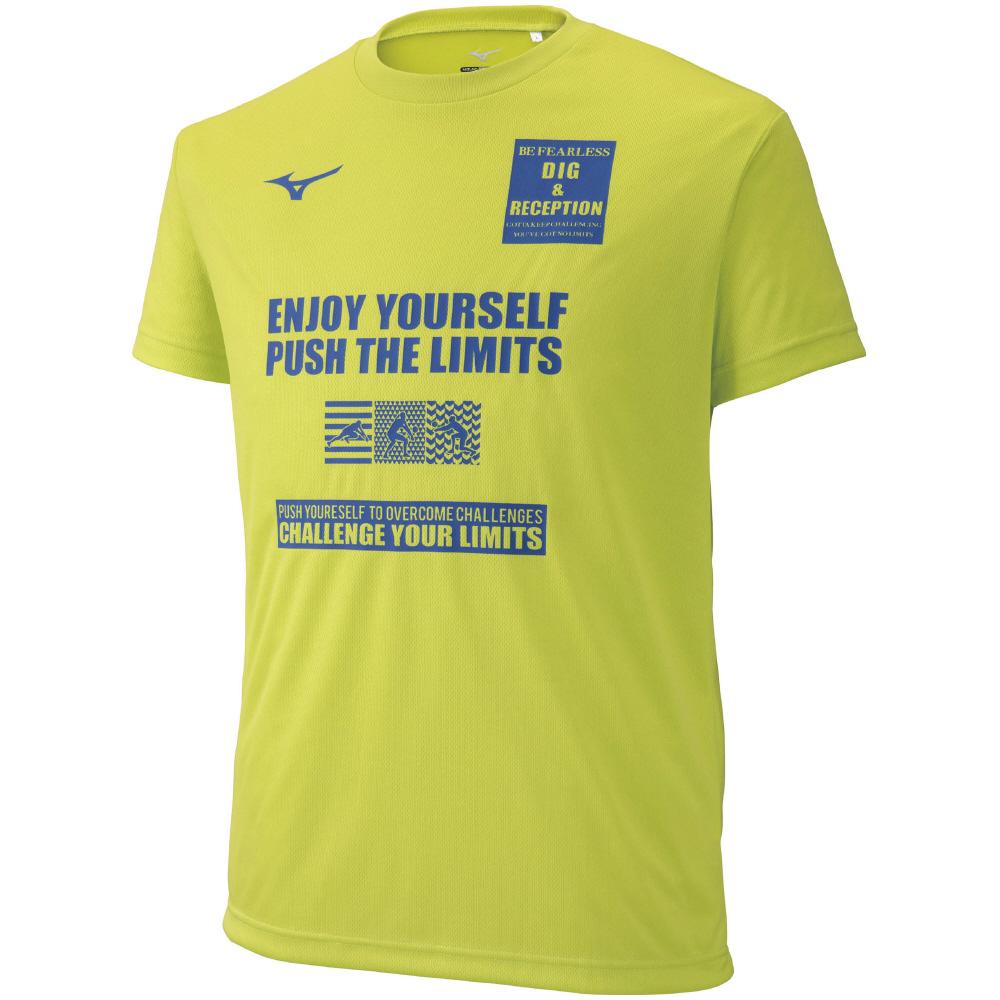 ミズノ グラフィックTシャツ V2MA9086 メンズ 2019SS バレーボール ゆうパケット(メール便)対応 2019春夏