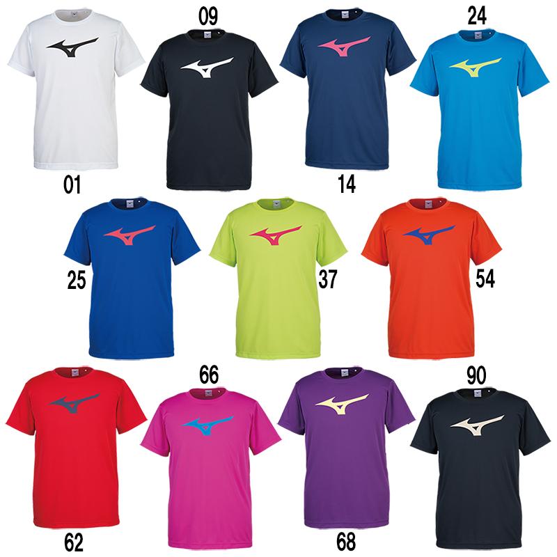 ミズノ BS Tシャツ ビッグRBロゴ 32JA8155 メンズ 2018SS バドミントン テニス ソフトテニス 卓球 ゆうパケット(メール便)対応